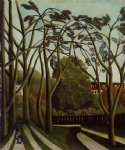 henri rousseau landscape on the banks of the bievre at becetre spring posters