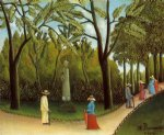 sea famous paintings - luxembourg garden by henri rousseau