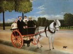 sea famous paintings - old junior s cart by henri rousseau