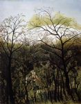 henri rousseau artwork - rendezvous in the forest by henri rousseau
