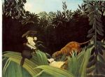 henri rousseau scout attacked by a tiger painting-82328