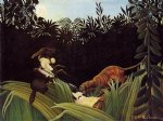 henri rousseau scout attacked by a tiger painting-32080
