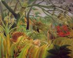 henri rousseau artwork - surprise by henri rousseau