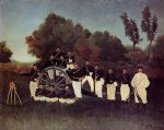 sea famous paintings - the artillerymen by henri rousseau