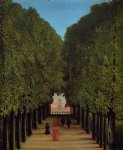 sea famous paintings - the avenue in the park at saint by henri rousseau