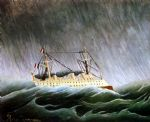 henri rousseau original paintings - the boat in the storm by henri rousseau