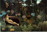 sea famous paintings - the dream by henri rousseau