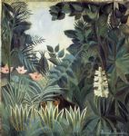 henri rousseau artwork - the equatorial jungle by henri rousseau
