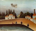 sea famous paintings - the fishermen and the biplane by henri rousseau