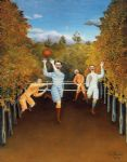 henri rousseau artwork - the football players by henri rousseau