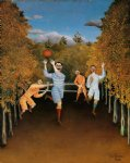 sea famous paintings - the football players by henri rousseau