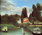 the mill at alfort by henri rousseau acrylic paintings