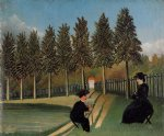 the painter and his wife by henri rousseau posters