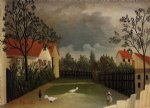 the poultry yard by henri rousseau posters