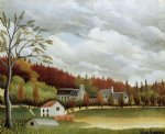 view of bievre by henri rousseau posters