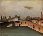 sea famous paintings - view of the quai d ovry by henri rousseau