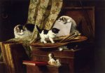 artful play by henriette ronner knip painting