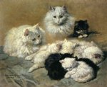 cats and kittens by henriette ronner knip painting