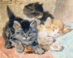 three kittens by henriette ronner knip painting