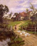 a berkshire homestead by henry h. parker painting