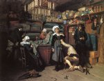 henry mosler acrylic paintings - buying the wedding trousseau by henry mosler