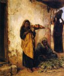 vegetable vendor by henry mosler painting