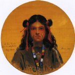 young indian woman by henry mosler painting