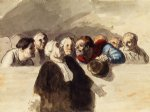 the defense attorney by honore daumier posters