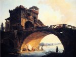 the old bridge by hubert robert posters