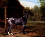 jacques laurent agasse original paintings - lord rivers roan mare in a landscape by jacques laurent agasse