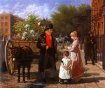 jacques laurent agasse acrylic paintings - the flower seller by jacques laurent agasse