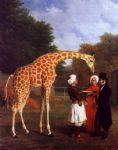 jacques laurent agasse acrylic paintings - the nubian giraffe by jacques laurent agasse