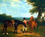 jacques laurent agasse original paintings - two hunters with a groom by jacques laurent agasse