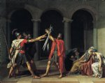 jacques louis david print - oath of the horatii 1784 by jacques louis david