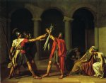 jacques louis david print - oath of the horatii by jacques louis david