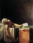 jacques louis david print - the death of marat by jacques louis david