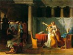 jacques louis david original paintings - the lictors bring to brutus the bodies of his sons by jacques louis david