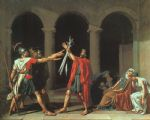 jacques louis david the oath of the horatii by jacques-louis david painting