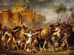 jacques louis david print - the sabine women by jacques louis david