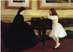 at the piano by james abbott mcneill whistler painting