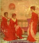 james abbott mcneill whistler famous paintings - harmony in flesh colour and red by james abbott mcneill whistler