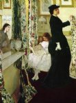 rose famous paintings - harmony in green and rose the music room by james abbott mcneill whistler
