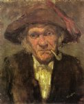 james abbott mcneill whistler original paintings - head of an old man smoking by james abbott mcneill whistler