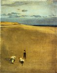 james abbott mcneill whistler famous paintings - the beach at selsey bill by james abbott mcneill whistler