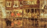 james abbott mcneill whistler famous paintings - the canal amsterdam by james abbott mcneill whistler