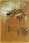 the zattere harmony in blue and brown by james abbott mcneill whistler painting