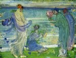 variations in blue and green by james abbott mcneill whistler painting