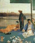 variations in flesh colour and green the balcony by james abbott mcneill whistler painting