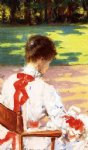 james carroll beckwith art - a study with sunlight by james carroll beckwith