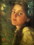 james carroll beckwith art - a wistful look by james carroll beckwith